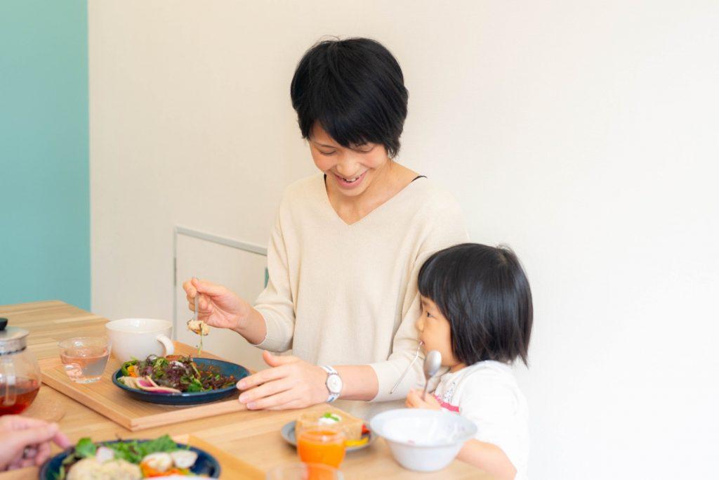 母子でお食事